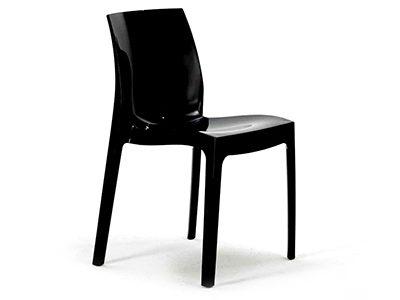 sedute noleggio sedia nera